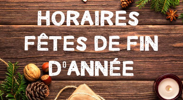 HORAIRES MAIRIE LE 24 ET 31 DECEMBRE 2020